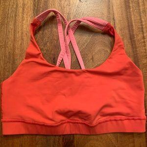 Lululemon unlined Orange bra